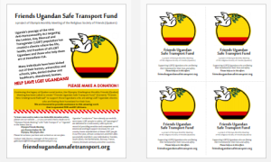 Friends Ugandan Safe Transport Fund - both flyers
