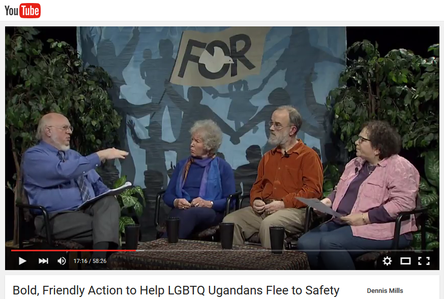 Glen Anderson interviews Kathleen O'Shaunessy, Alan Mountjoy-Venning, and Gabi Clayton about Olympia Friends Meeting's Friends Ugandan Safe Transport Fund project.