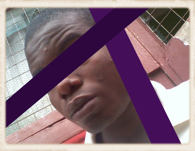 "This is ""ViW"" – his picture was altered by Friends Ugandan Safe Transport to protect his identity."